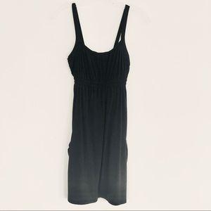 Black Sleeveless Pocketed Apron Mini Dress Size XS